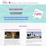 Capture écran de la page d'accueil du site EsHa avant le redesign.