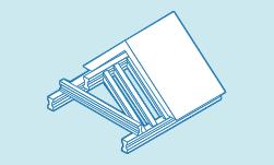 Option toiture avec des poutrelles en acier
