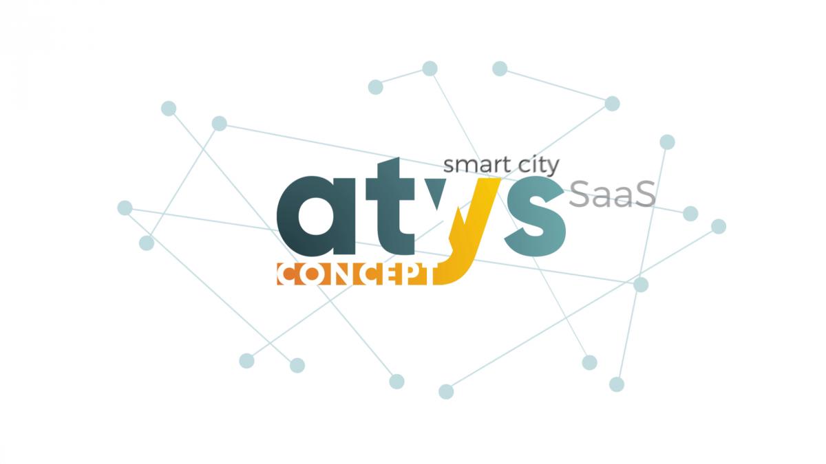 Animation pour la transition vers le nouveau logo de l'entreprise Atys Concept